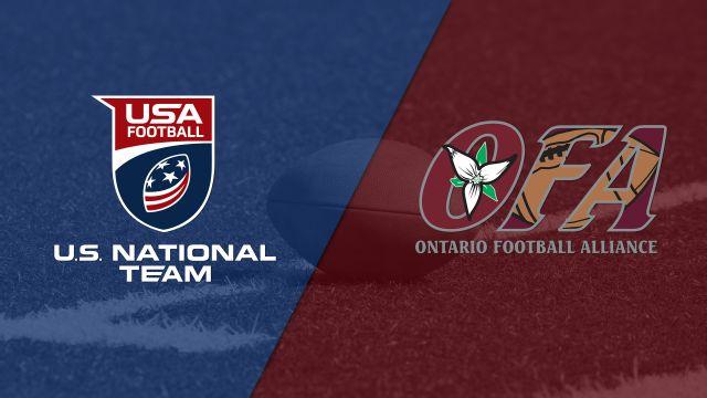 U.S. Under-18 Select vs. Team Ontario (Youth Football)