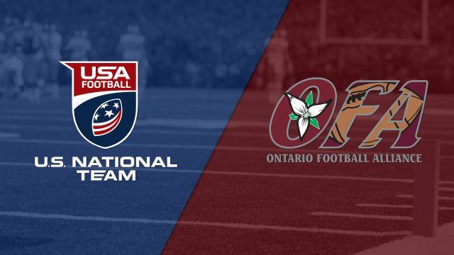 U.S. Under-16 National vs. Team Ontario (Youth Football)