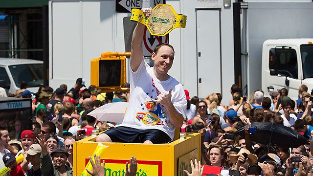 Joey Chestnut Camera - 2014 Nathan's Famous Hot Dog Eating Contest