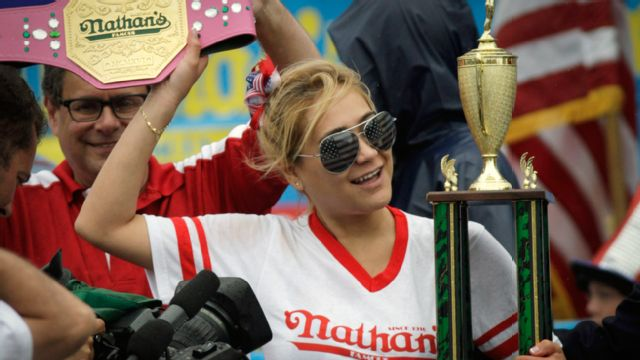 Miki Sudo Cam - 2015 Women's Nathan's Famous Hot Dog Eating Contest