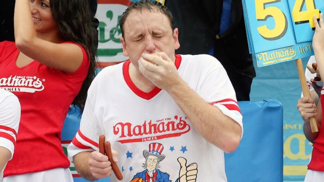 Joey Chestnut Cam - 2015 Nathan's Famous Hot Dog Eating Contest