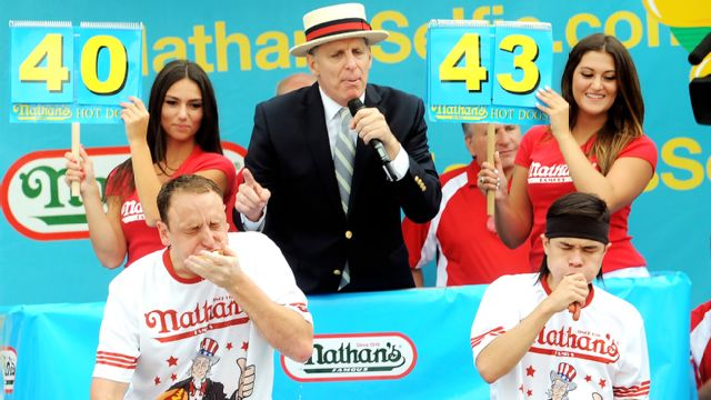 2016 Nathan's Hot Dog Eating Contest - WatchESPN Surround pres. by Sony Pictures Sausage Party