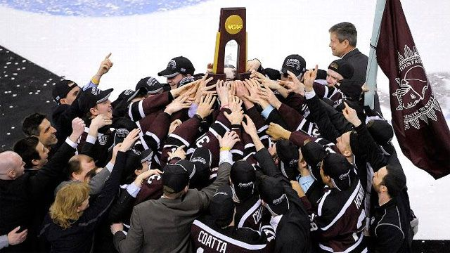NCAA Hockey Championship Trophy Presentation