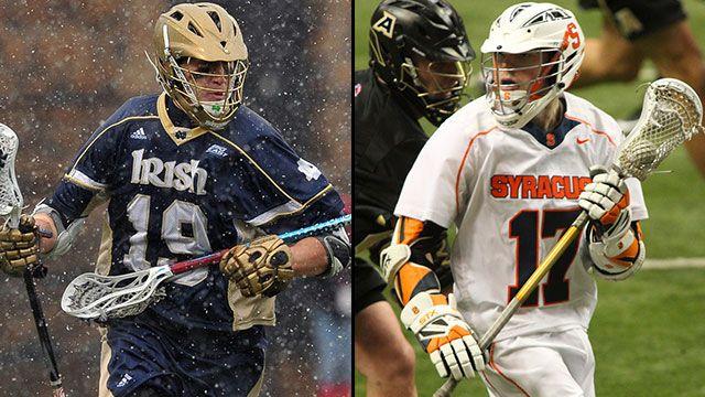 #3 Notre Dame vs. #2 Syracuse (Semifinal #1): 2013 Big East Men's Lacrosse Championship