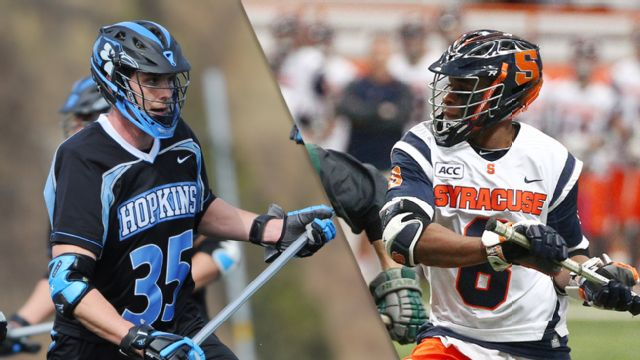 Watch 16 Johns Hopkins Vs 1 Syracuse M Lacrosse Live