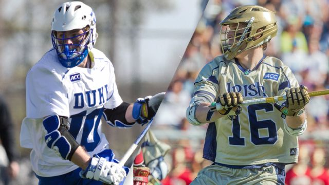 #6 Duke vs. #1 Notre Dame (Semifinal #1) (ACC Men's Lacrosse Championship) (re-air)