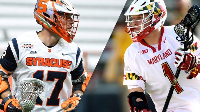 #8 Syracuse vs. #1 Maryland (Quarterfinal #1) (NCAA Men's Lacrosse Championship) (re-air)