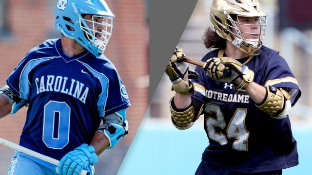 North Carolina vs. #3 Notre Dame (Quarterfinal #3) (NCAA Men's Lacrosse Championship) (re-air)
