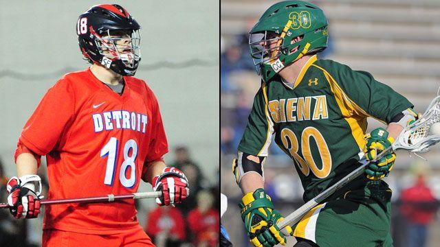 #4 Detroit vs. #3 Siena (Championship): 2013 MAAC Men's Lacrosse Championship
