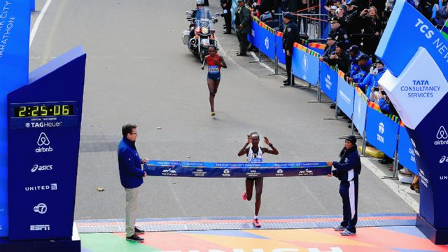 2014 TCS New York City Marathon: Finish Line Cam