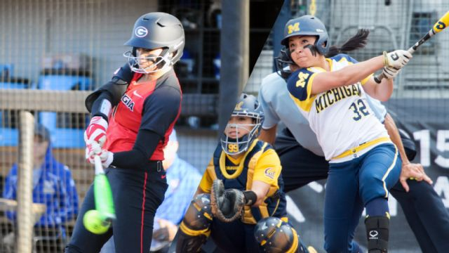 #14 Georgia vs. #3 Michigan (Site 2 / Game 1) (NCAA Softball Championship)