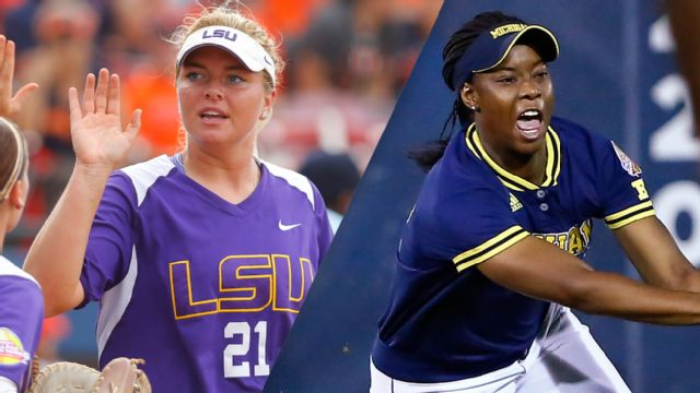 #5 LSU vs. #3 Michigan (Game #12) (Women's College World Series)