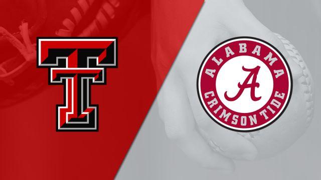 Texas Tech vs. #10 Alabama (Softball)