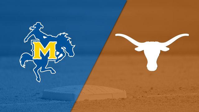 McNeese vs. Texas (Softball) (re-air)