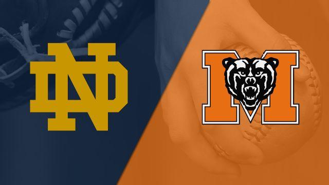 Notre Dame vs. Mercer (Softball)