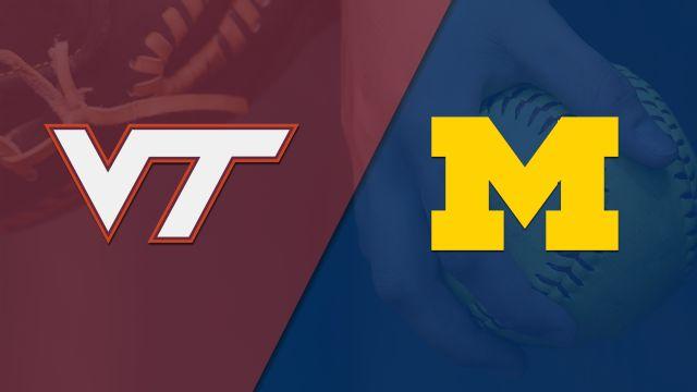Virginia Tech vs. #20 Michigan (Softball)