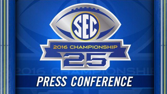 SEC Championship Coaches' Press Conference