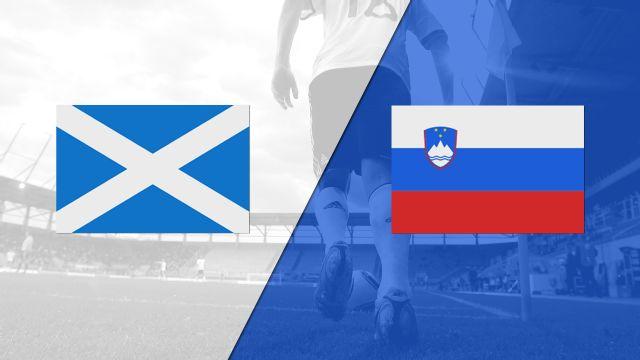In Spanish - Escocia vs. Eslovenia (FIFA World Cup Qualifier)