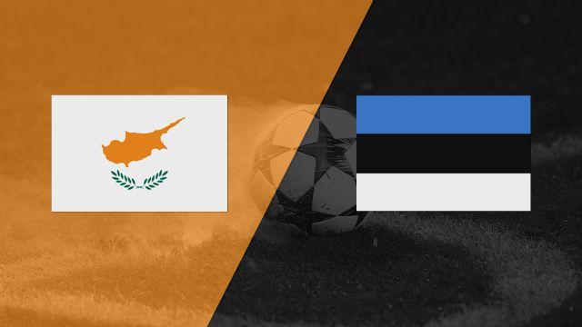 In Spanish - Chipre vs. Estonia (FIFA World Cup Qualifier)