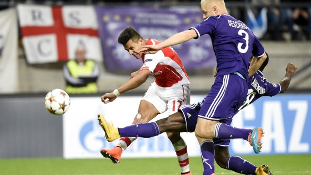 En Espa�ol - Rsc Anderlecht vs. Arsenal (UEFA Champions League)