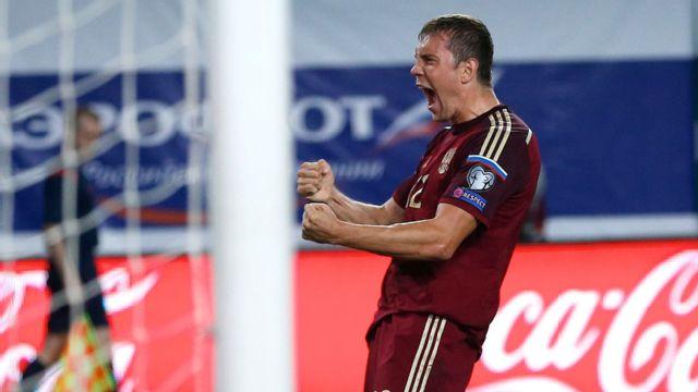 Montenegro vs. Russia (UEFA Europa 2016 Qualifier)