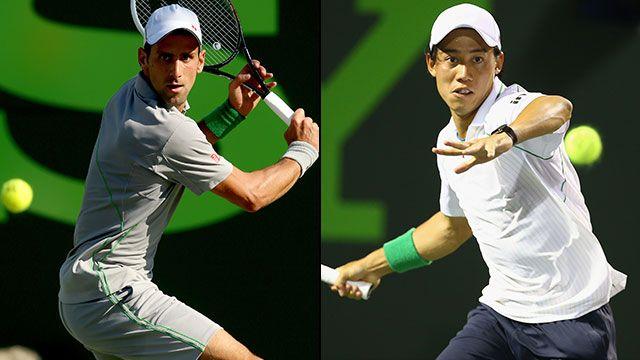 Novak Djokovic (SRB) vs. Kei Nishikori (JPN) (Men's Semifinal #1)