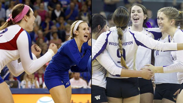 Kansas vs. Washington (Regional Semifinal #1): NCAA Women's Volleyball Championship