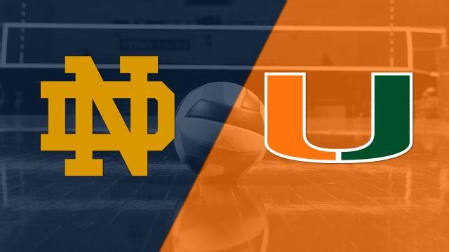 Notre Dame vs. Miami (W Volleyball)