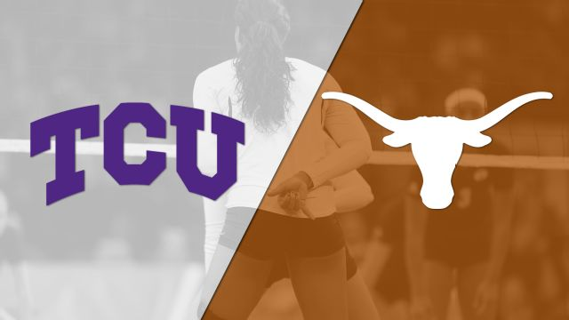 TCU vs. #2 Texas (W Volleyball) (re-air)