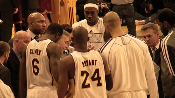 Lakers Team Huddle