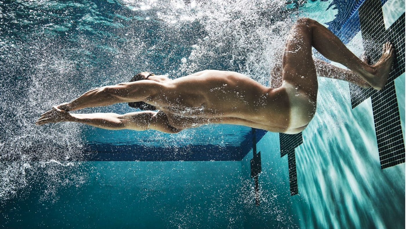 Nathan Adrian built to swim