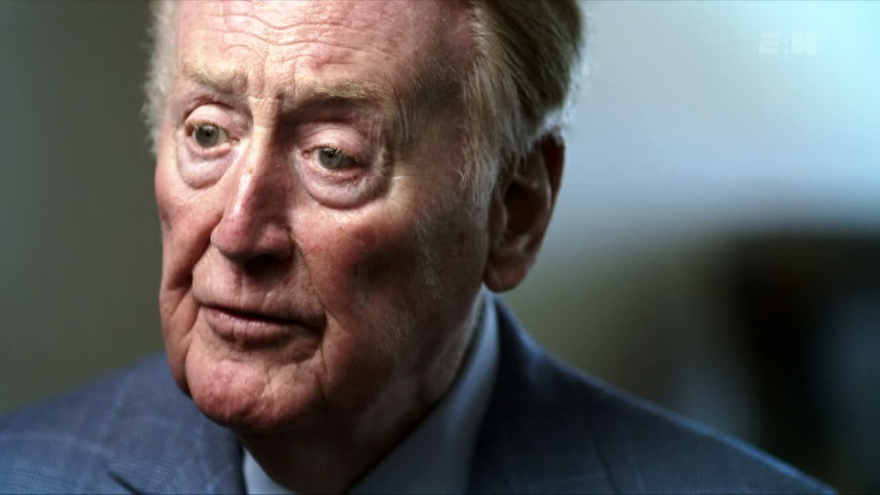 E:60: Vin Scully shares thoughts on final MLB season