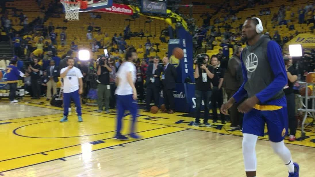 Durant locked in for Game 2