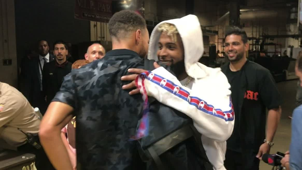 Beckham Jr. teases Curry before Game 4