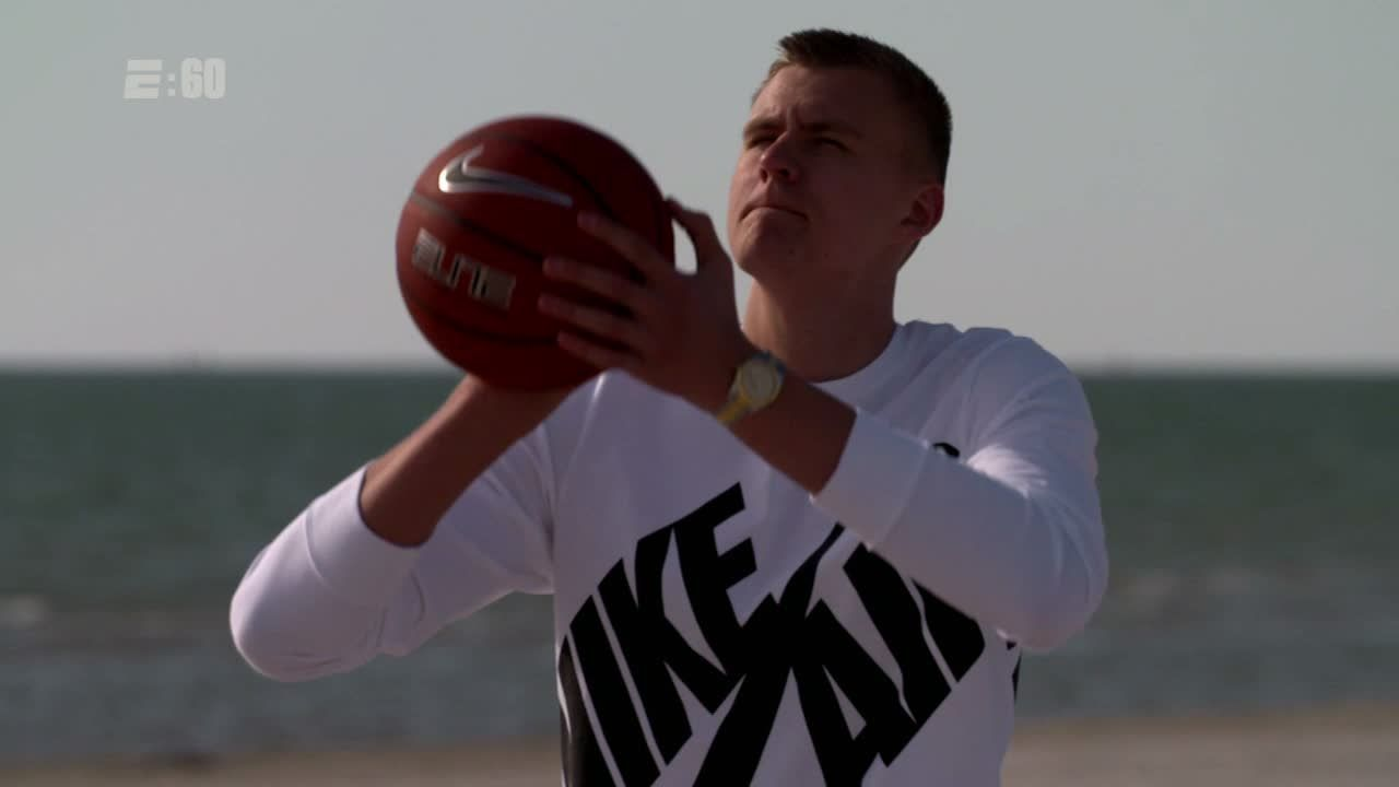 Kristaps Porzingis' 4,100-mile journey