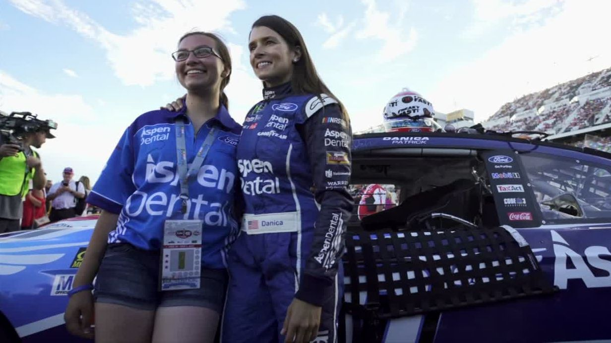 My Wish: Young fan gets dream day with Danica at Daytona