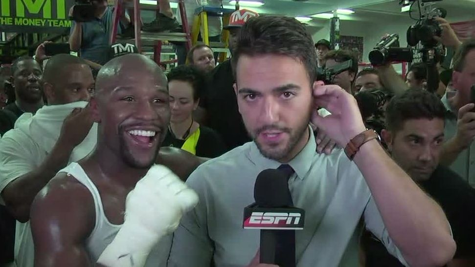 Mayweather makes surprise SportsCenter appearance