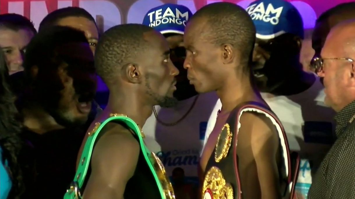 Crawford, Indongo go eye-to-eye before Saturday's clash