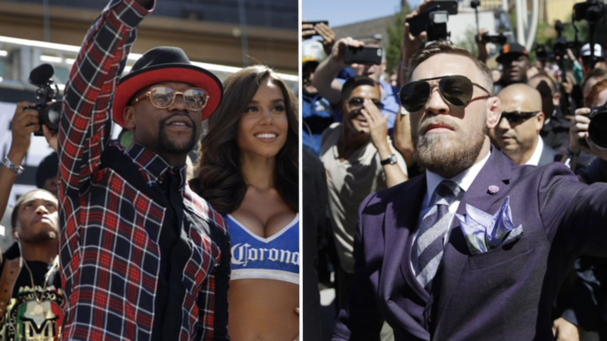 The best of Mayweather-McGregor's Vegas arrival
