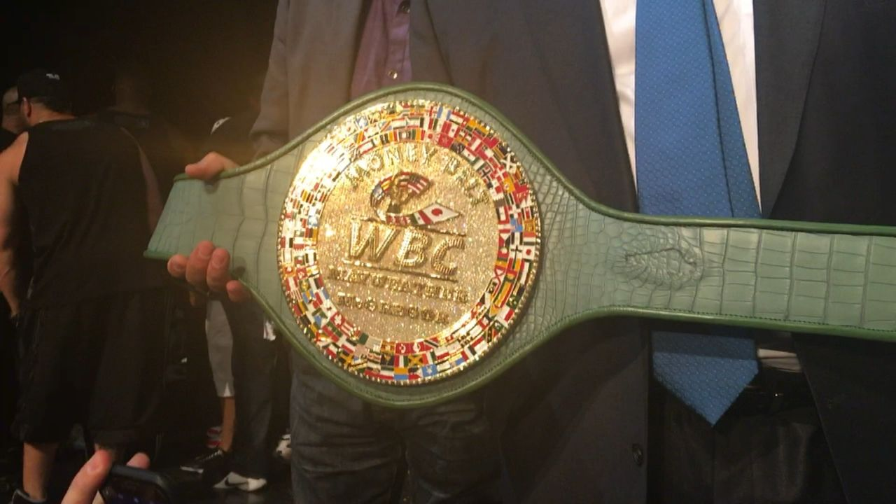 Money Belt for Mayweather vs. McGregor maybe most expensive belt ever