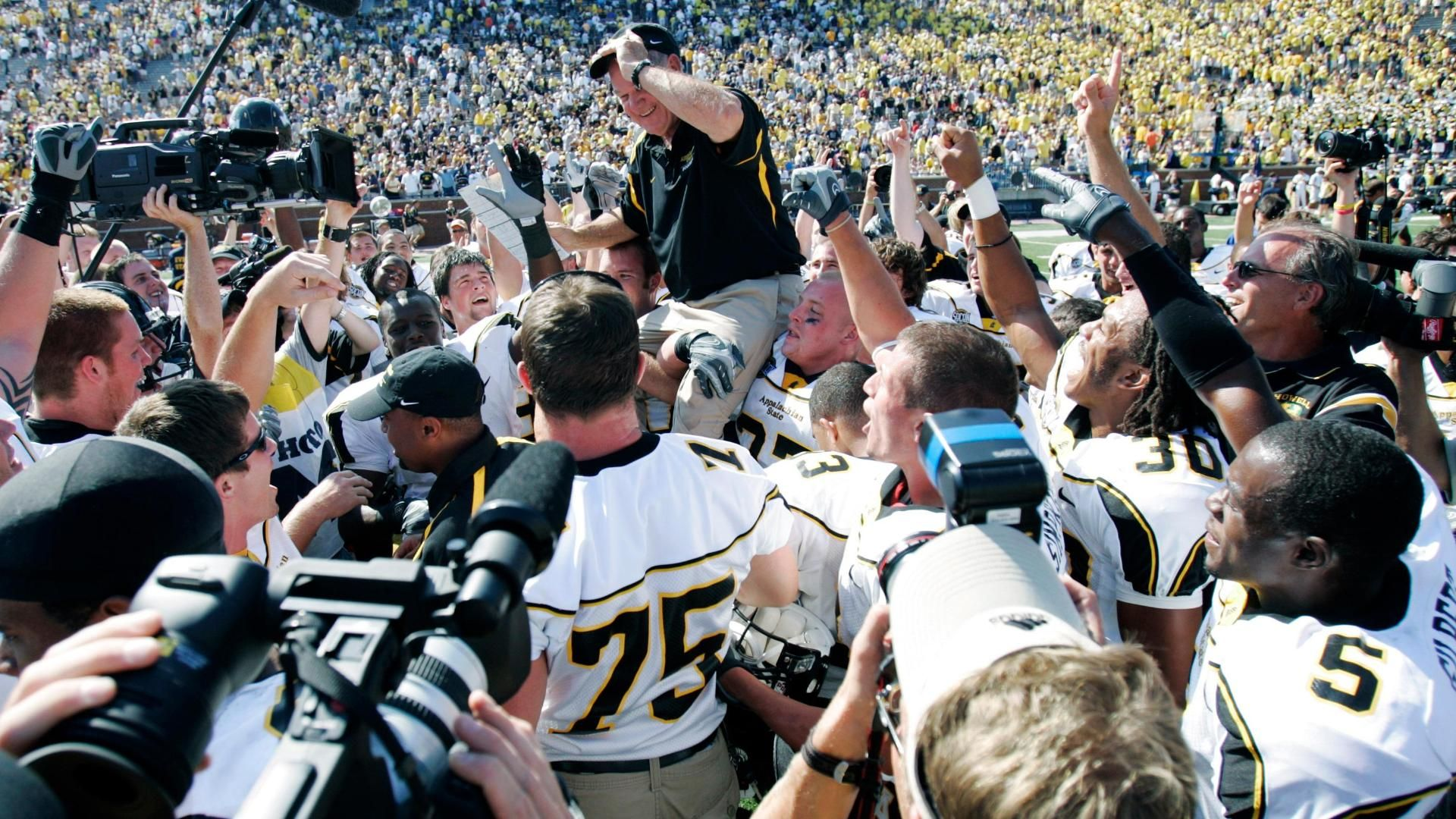 App State looks back at legendary upset of Michigan