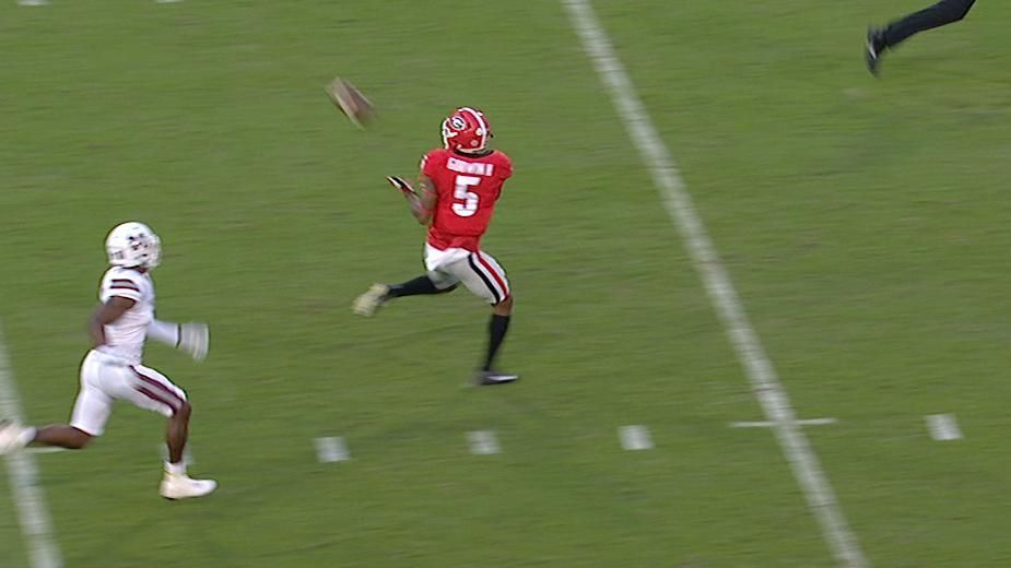 Fromm's flea flicker puts Georgia on the board