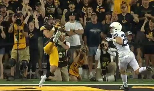 Iowa steals momentum from Penn State before half