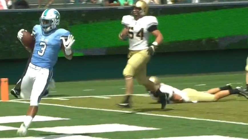 Tulane rushes for 72-yard touchdown