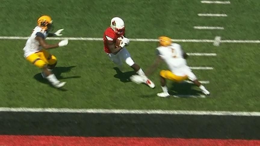 Jackson sets Louisville TD record