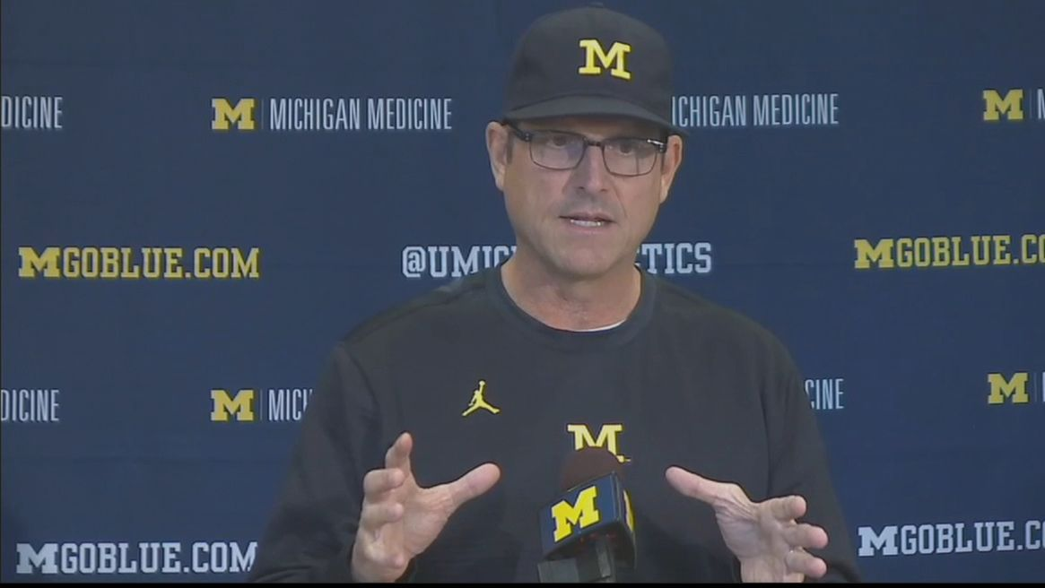 Harbaugh not happy about visiting team facilities in Big Ten