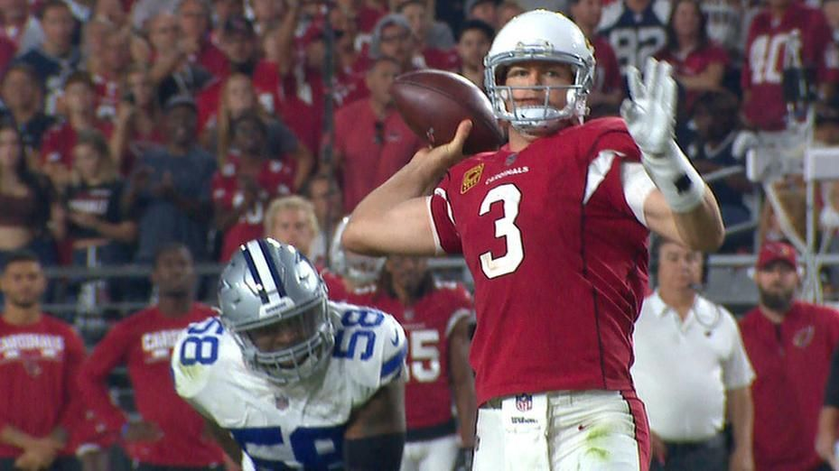 Palmer throws 100th TD pass with Cards