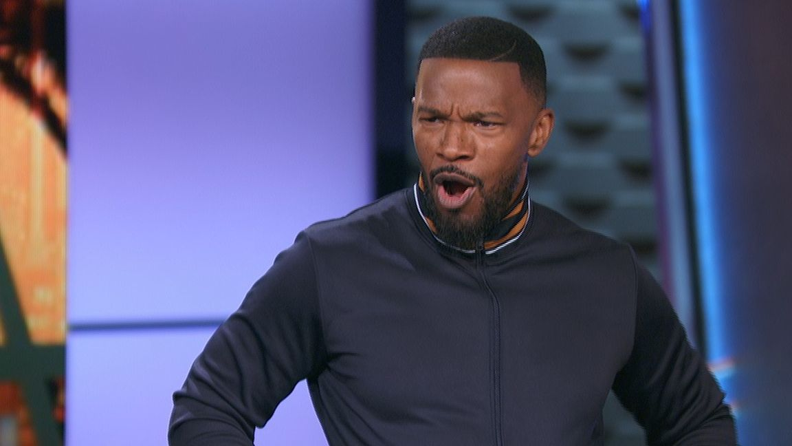 Jamie Foxx does spot-on LeBron impression