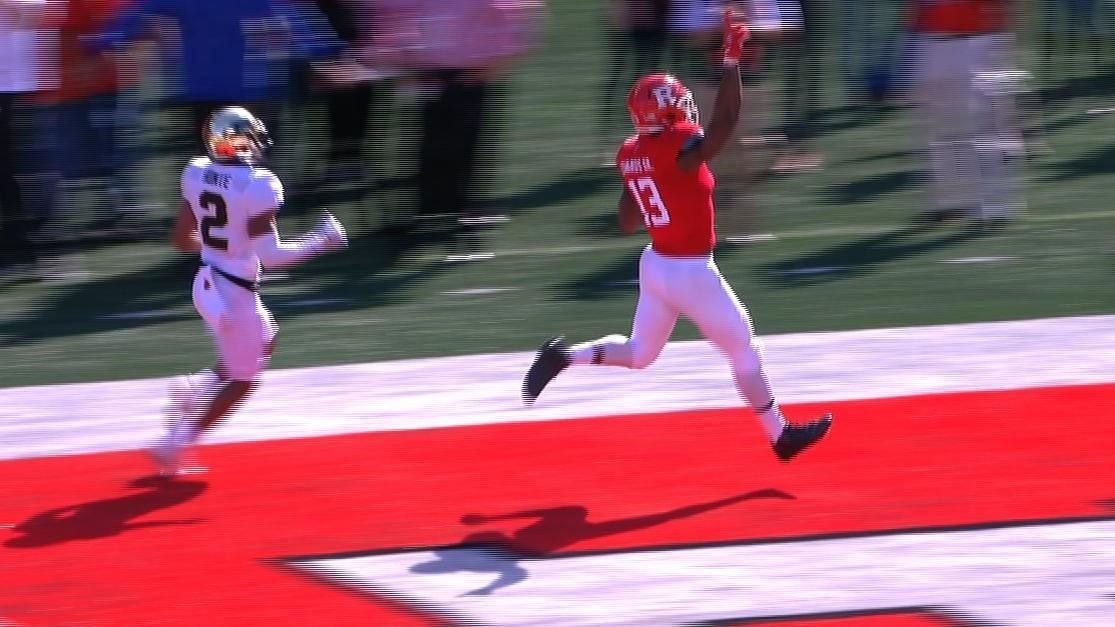 Rutgers' Edwards breaks loose for 74-yard TD