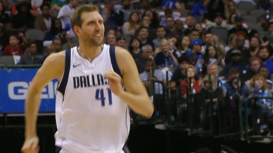 Dirk rises to 8th in all-time made field goals